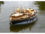 John Hollis displayed and sailed his superb scratch built steam powered model of this unusual vessel.